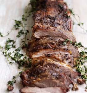 Allspice & Thyme Crusted Butterflied BBQ Leg of Lamb
