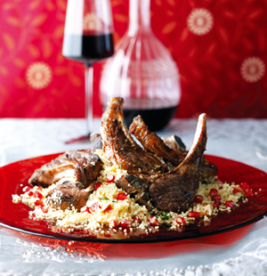 Allspice Lamb Cutlets with Jewelled Couscous