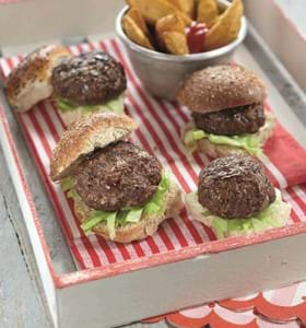 BBQ Beef, Mushroom and Redcurrant Burgers