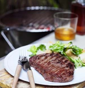 BBQ Whiskey and Soy Steaks