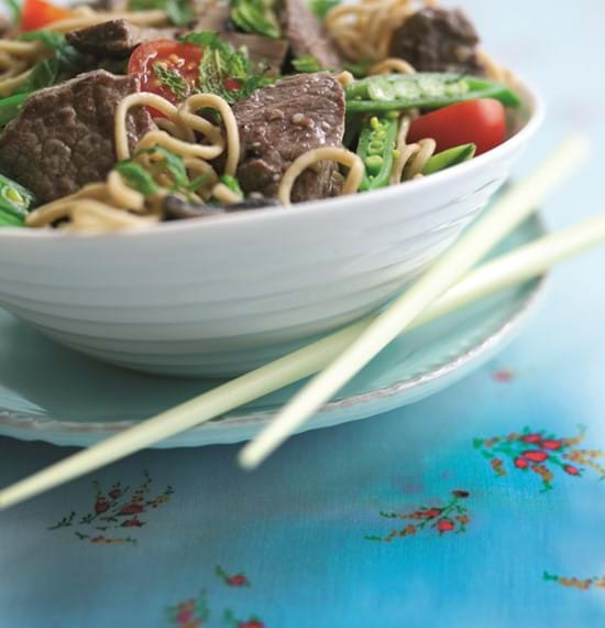 Beef and Sugar Snap Noodles