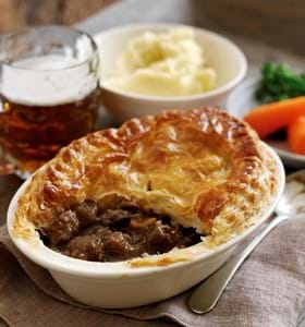 Beef Beer and Chestnut Pot Pies