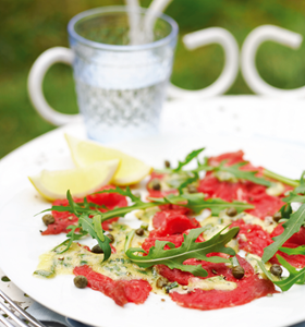Beef Carpaccio with Mustard Dressing