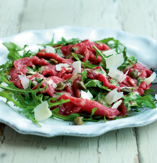 Beef Carpaccio with Mustard Dressing (version 2)