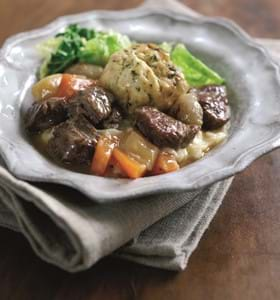 Beef Casserole with Herb Dumplings