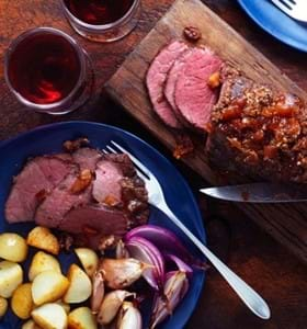 Beef Mini Roast with a Chutney and Coriander Glaze