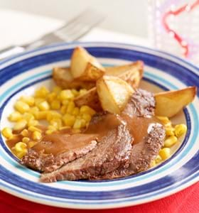 Beef Mini Roast with Lemon, Garlic and Honey (Kid's version)