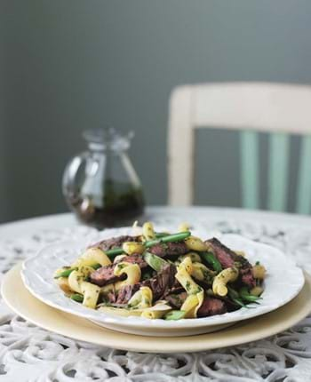 Beef Pasta Salad with Tangy Herb Dressing