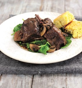 Beef Short Ribs with Cornbread
