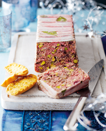 Beef, Juniper and Pistachio Terrine
