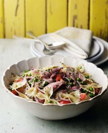 Beef,Pasta and Pea Salad with Herb Dressing