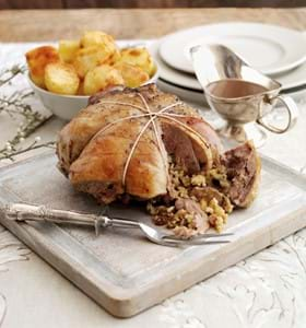 Boneless Cushion of Lamb with Festive Stuffing