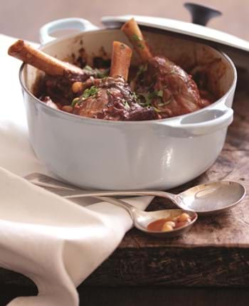 Braised Lamb Shanks with Chick Peas