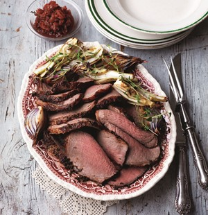 Celebration Roast Beef with Beetroot, Apple and Orange Relish