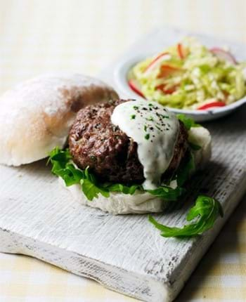 Chutney BBQ Burgers with Tarragon Mayonnaise