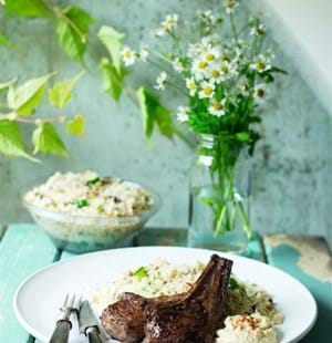 Cinnamon and Chilli Lamb Chops with Couscous Salad