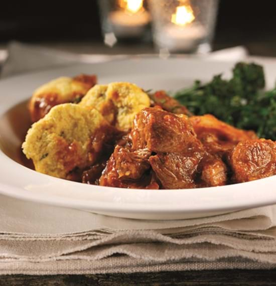 Citrus Lamb Stew with Saffron and Figs