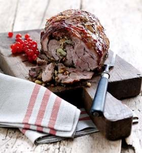 Cumberland Glazed Shoulder of Lamb with Apple and Pine Nut Stuffing