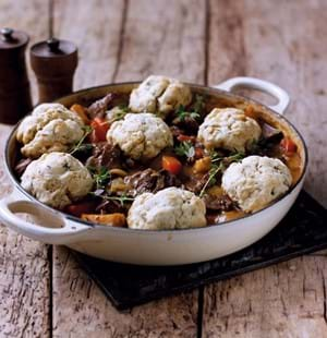 Easy Beef Casserole with Herb Dumplings