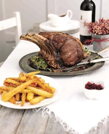 Festive Roast Beef with Cranberry and Red Onion Relish