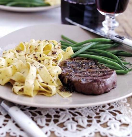 Fillet Steaks with Anchovy and Rosemary Butter