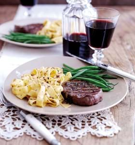 Fillet Steaks with Anchovy and Rosemary Butter Sauce