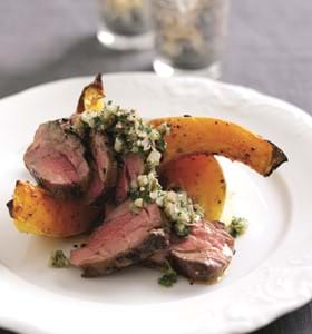 Grilled Neck of Lamb with Roasted Winter Squash