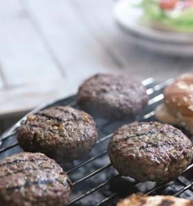 Herby Beefburgers with Mango Chutney