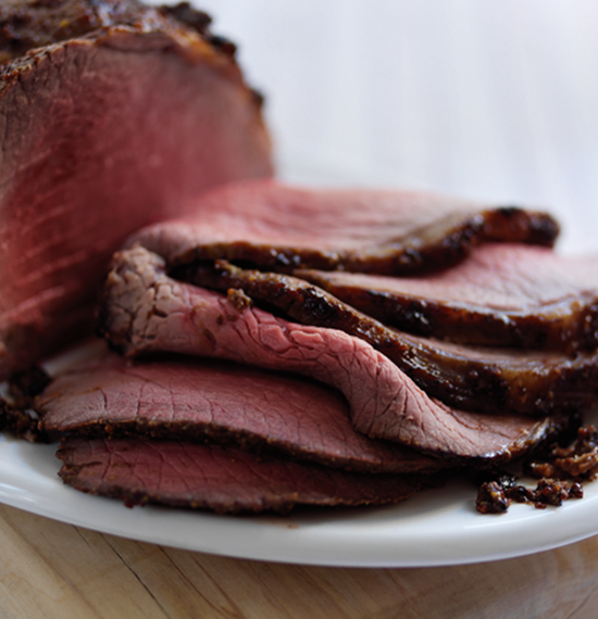 Honey and Mustard Glazed Roast Beef