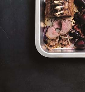 Honour of Lamb with Roasted Red Onions