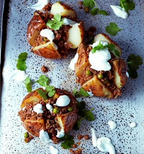 Keema Jacket Potatoes