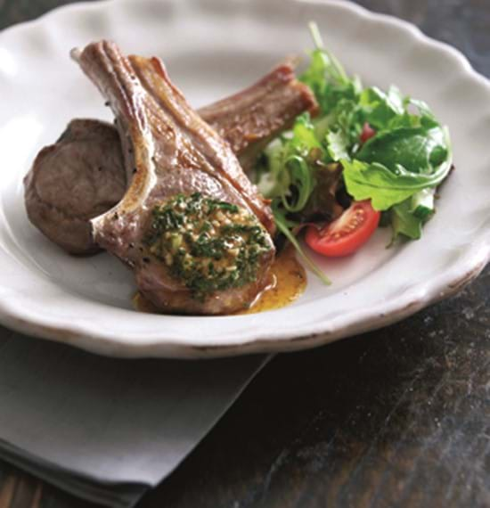 Lamb Chop or Steaks with Garlic,Paprika and Herb Butter