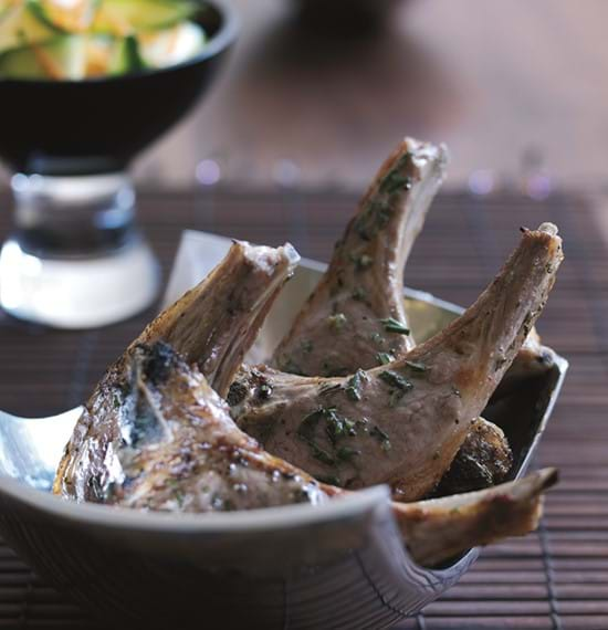 Lamb Chops with Rosemary and Anchovy Butter