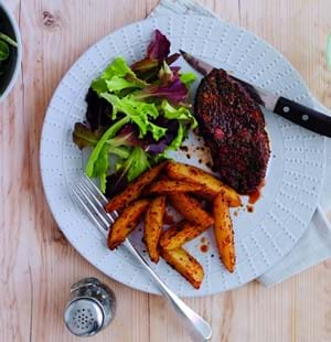 Lamb Leg Steaks with a Herb and Paprika Rub
