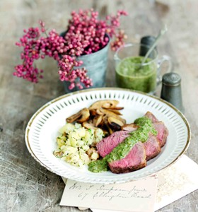 Lamb Mini Roast with Anchovy, Mint and Lemon Dressing