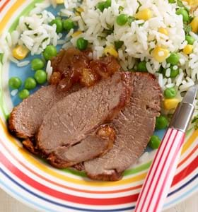 Lamb Mini Roast with Mango Chutney (Kid's version)