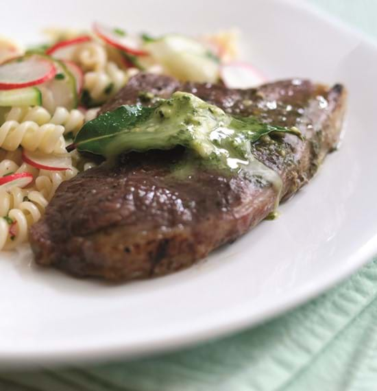 Lamb Rumps with Pesto Butter