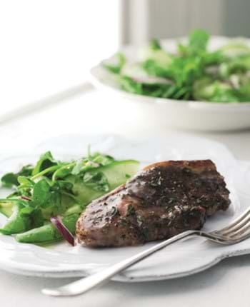 Lamb Rumps with Redcurrant and Herb Butter