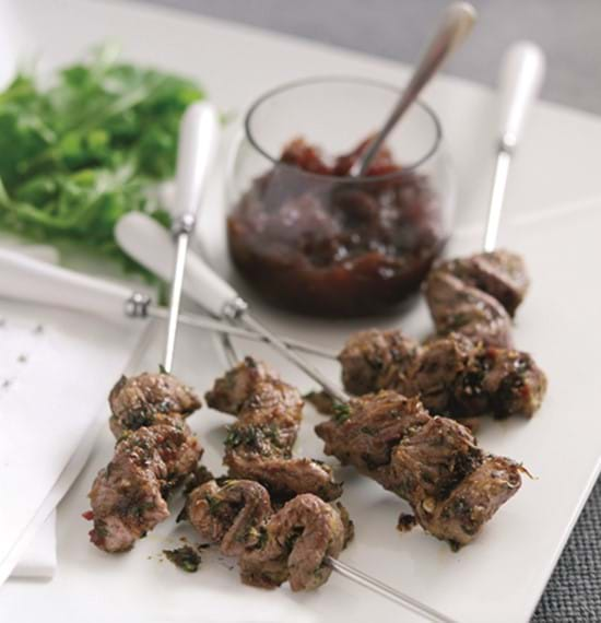 Lamb Skewers with Lemon and Chilli