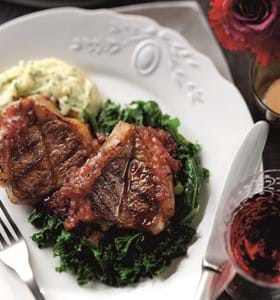 Lamb Valentine steaks with Orange and Redcurrant Sauce