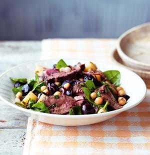 Lamb, Chick Pea and Cherry Salad