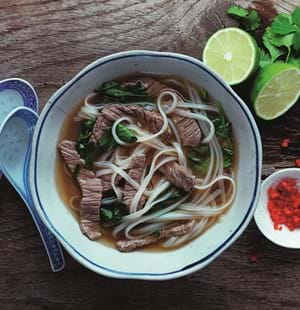 Light Beef Miso Soup with Watercress
