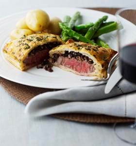 Mini Beef Wellingtons with Black Pudding