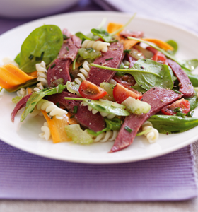 Pressed Ox Tongue Salad with Horseradish and Honey Dressing