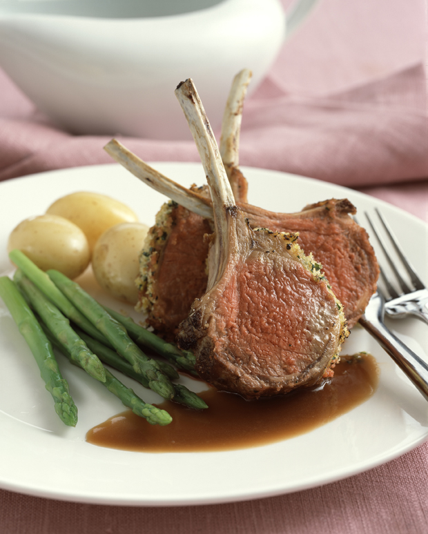 Sticky Rack of Lamb with Mint Recipe