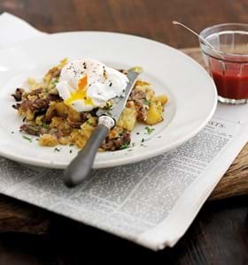 Roast Beef Hash with Eggs