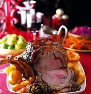 Roast Rib of Beef with Kumquats and Orange Liqueur