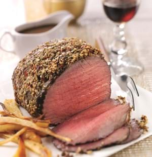 Roast Topside Beef with Fennel and Garlic Crust