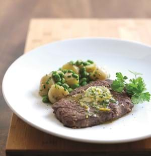 Seared Rib-Eye Steaks with Orange and Ginger Butter