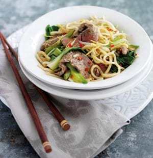 Sizzling Beef with Pak Choi Noodles